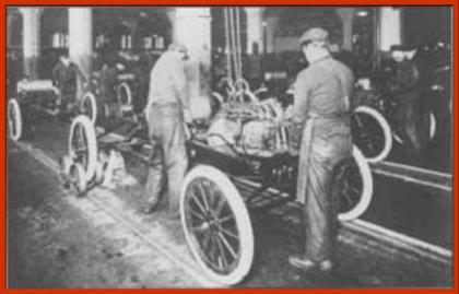 Henry Ford Introduced Conveyor Belt Auto-vehicle Assembly System